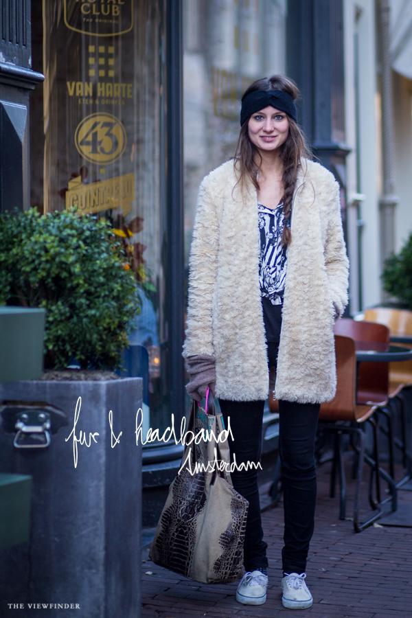 fur & vans street style woman amsterdam | ©THE VIEWFINDER