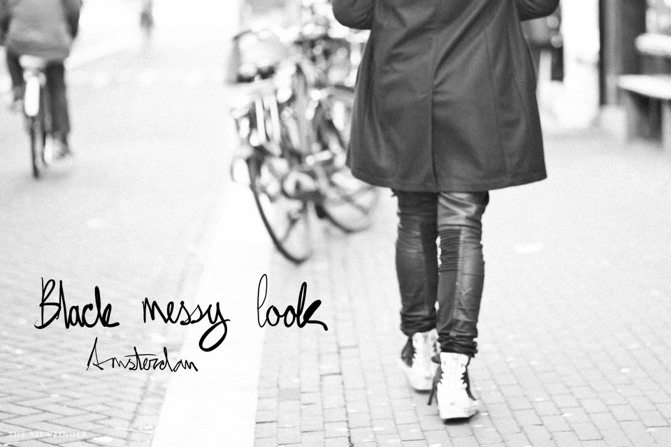 black messy look street style amsterdam | ©THE VIEWFINDER