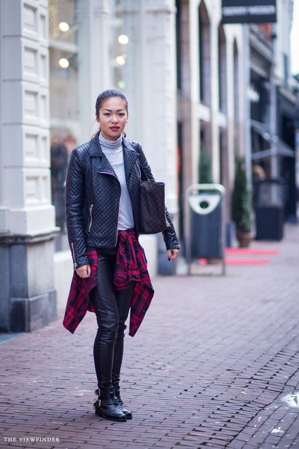 leather & tartan street style arnhem the netherlands | ©THE VIEWFINDER
