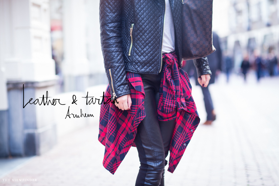 leather & tartan street style arnhem the netherlands 2 | ©THE VIEWFINDER