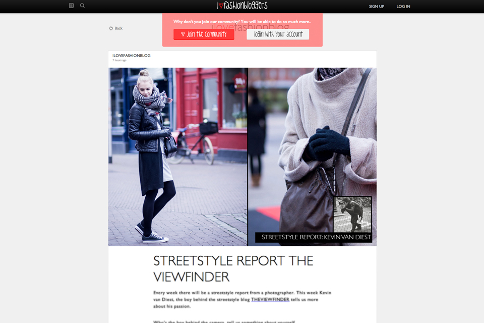 ilovefashionbloggers interview article THE VIEWFINDER | KEVIN VAN DIEST