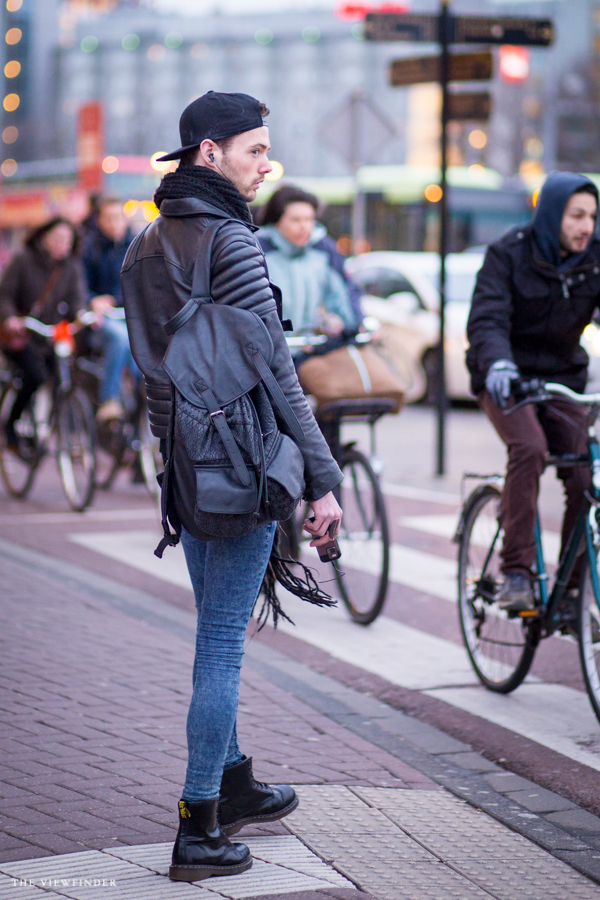 stretch skinnies and leather street style men amsterdam | ©THE VIEWFINDER