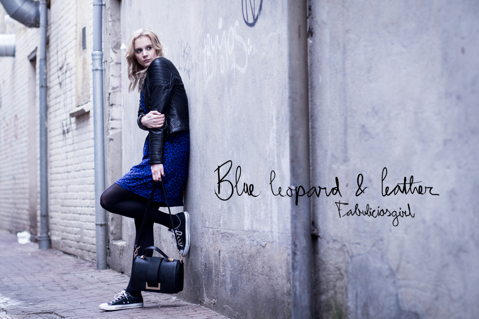 blue leopard & leather street style fabuliciousgirl arnhem amsterdam | ©THE VIEWFINDER