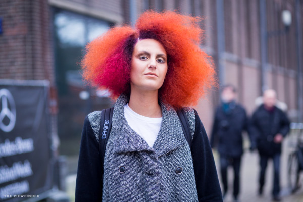 hair in flames street style fashion | ©THE VIEWFINDER