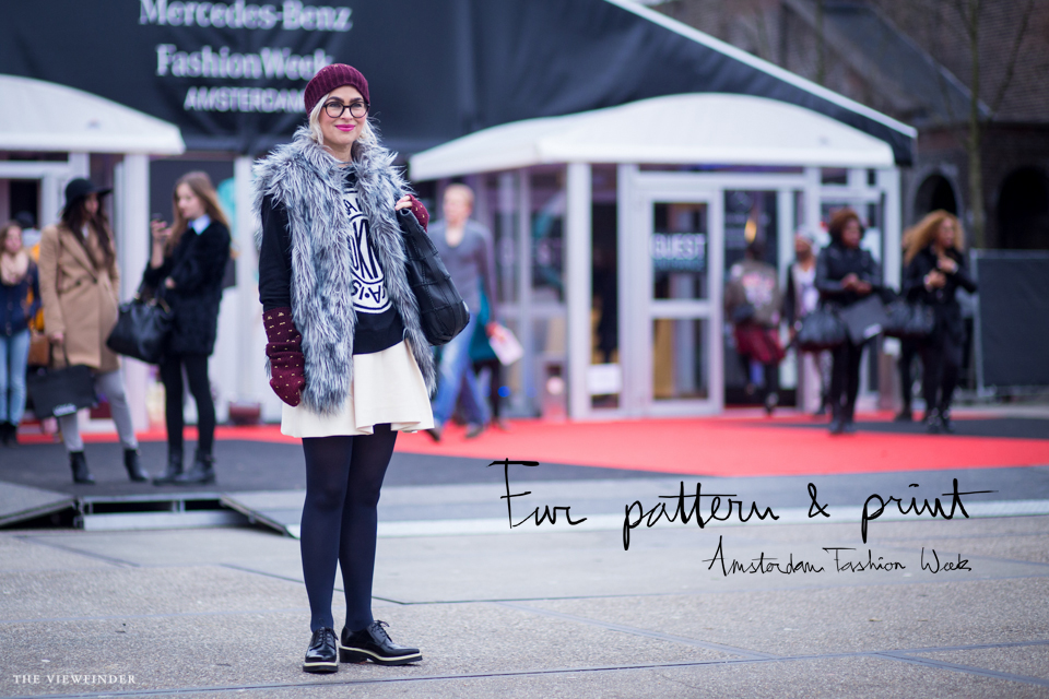 fur pattern print street style amsterdam women | ©THE VIEWFINDER