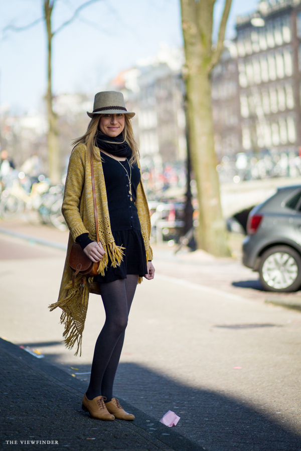 yellow fringe caridgan women spring street style amsterdam | ©THE VIEWFINDER-5922