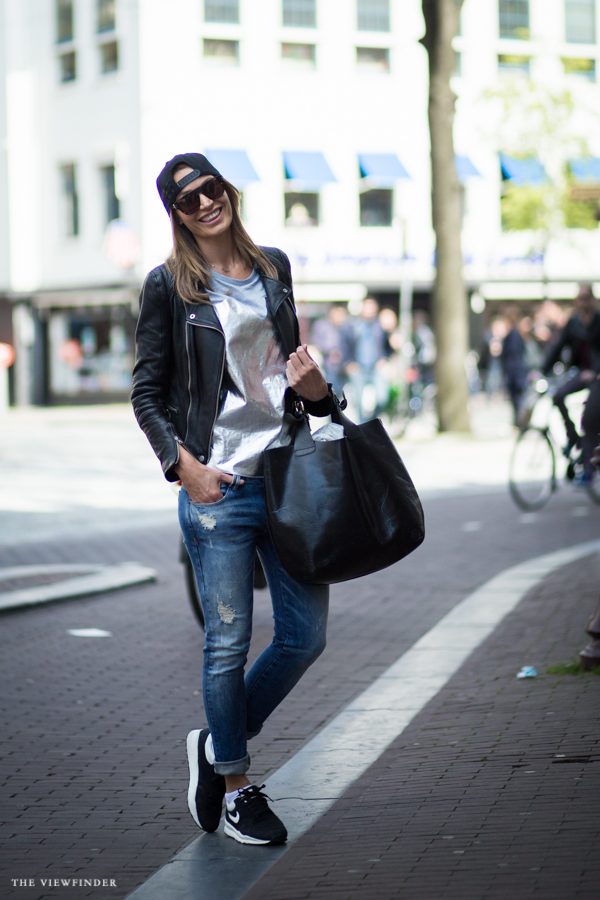 black & sliver female look street style amsterdam fashion | ©THE VIEWFINDER-6729