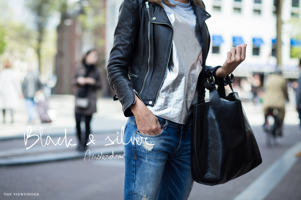 black & sliver female look street style amsterdam fashion | ©THE VIEWFINDER-6735