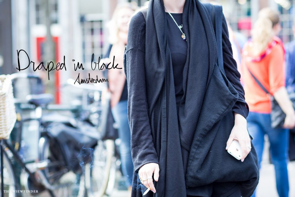 draped in black women street style fashion amsterdam | ©THE VIEWFINDER-6995 title