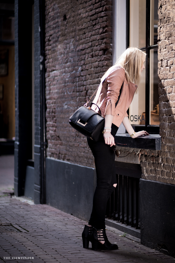 pink leather jacket fashion street style blogger fabuliciousgirl | ©THE VIEWFINDER-9611