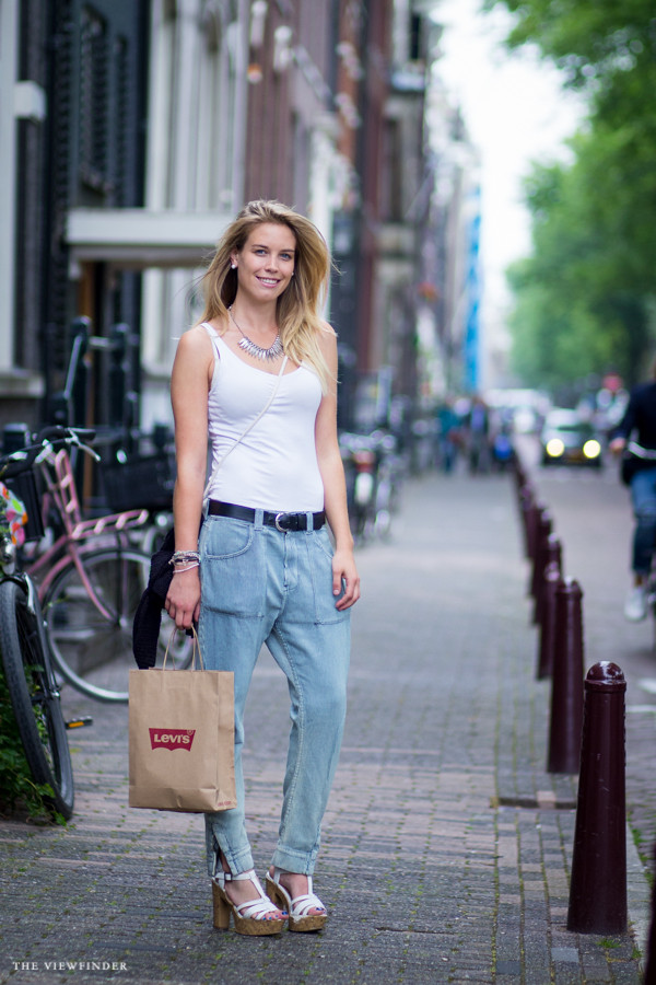 Street style: Baggy denim & heels, Amsterdam ‹ THE VIEWFINDER