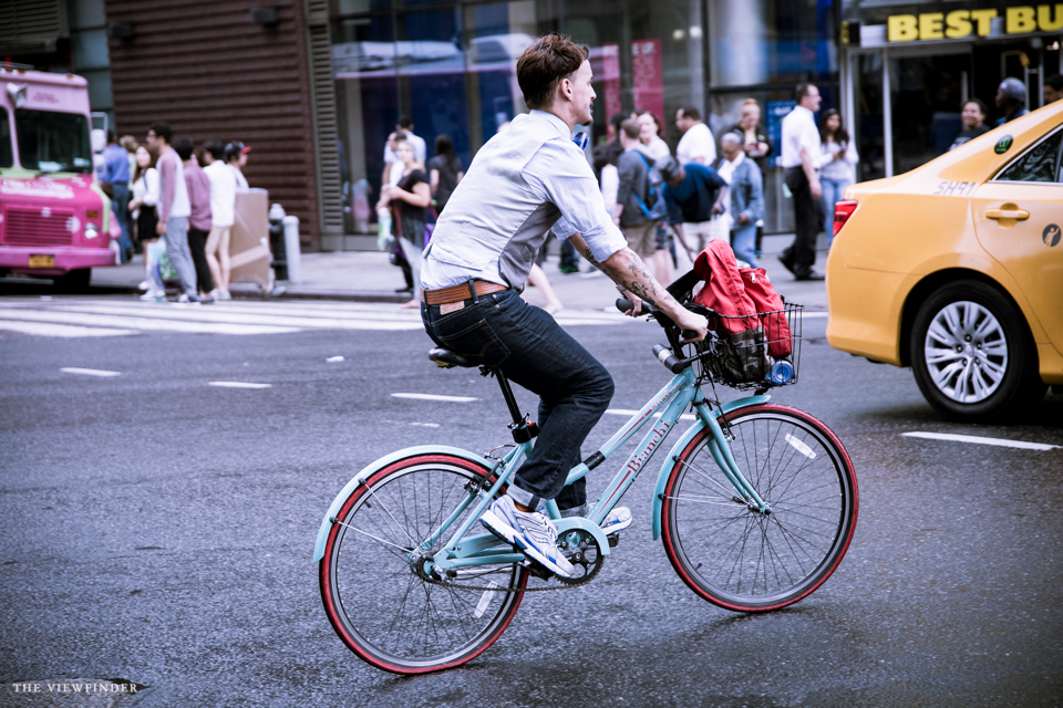 retro look cyclist men street style new york | ©THE VIEWFINDER-6698