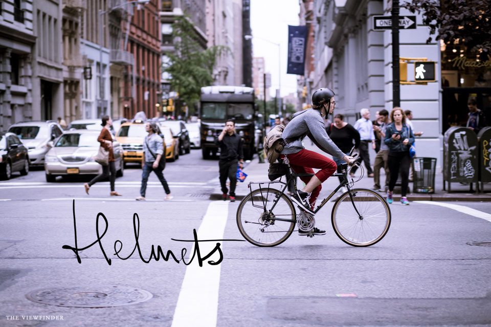 helmets bicycle new york streets | ©THE-VIEWFINDER-6803-title