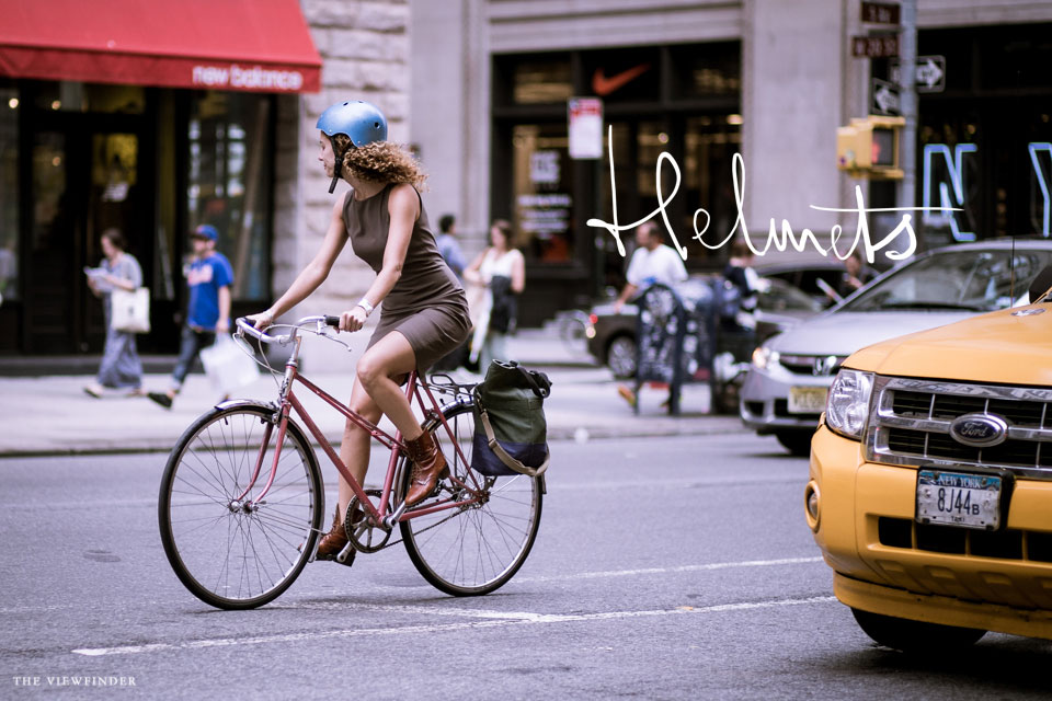 bicycle blue helmet streets new york | ©THE-VIEWFINDER-6833-title