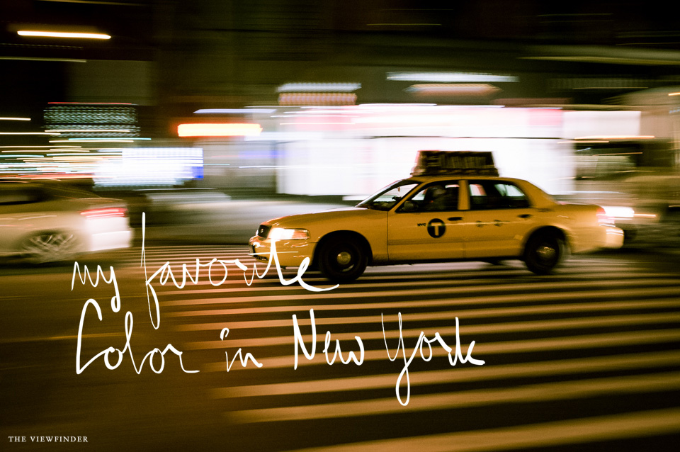 yellow cab new york | THE-VIEWFINDER-5538-title