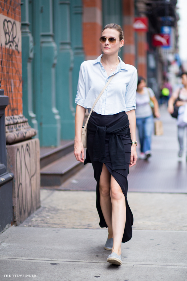 crop split skirt new york street style | THE VIEWFINDER-7537