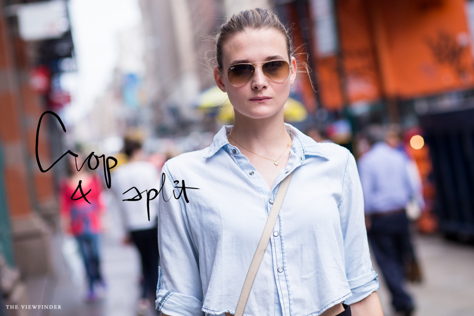 split skirt crop new york street style | THE-VIEWFINDER-7539