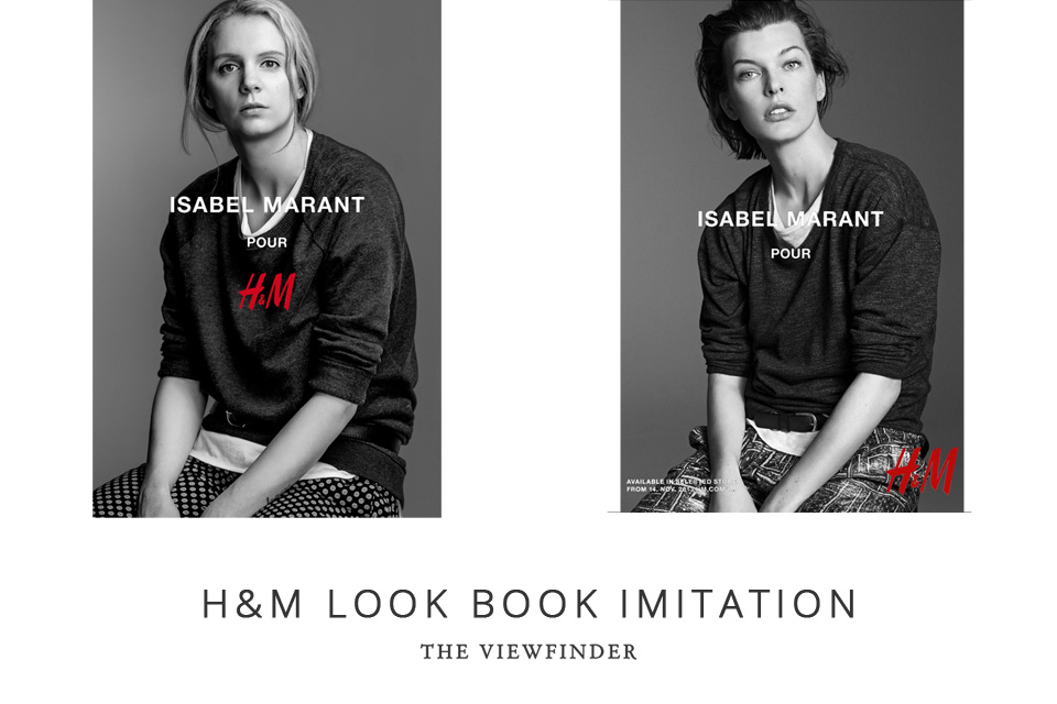 THE VIEWFINDER H&M imitation shoot