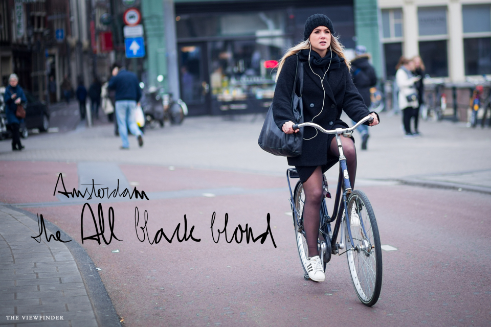 all black blonde street style women AMSTERDAM THE VIEWFINDER