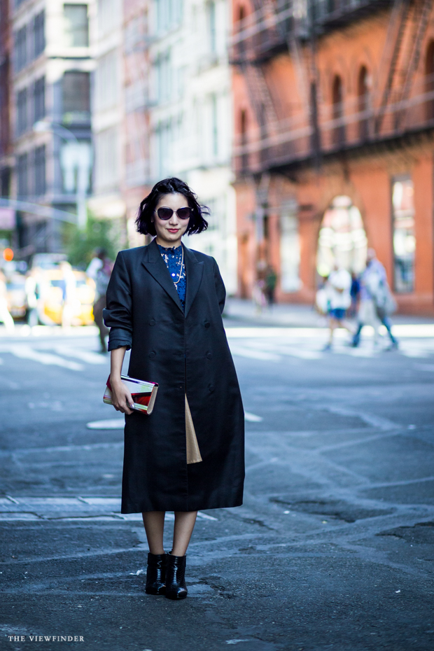 trenchcoat heels women street style ny THE VIEWFINDER