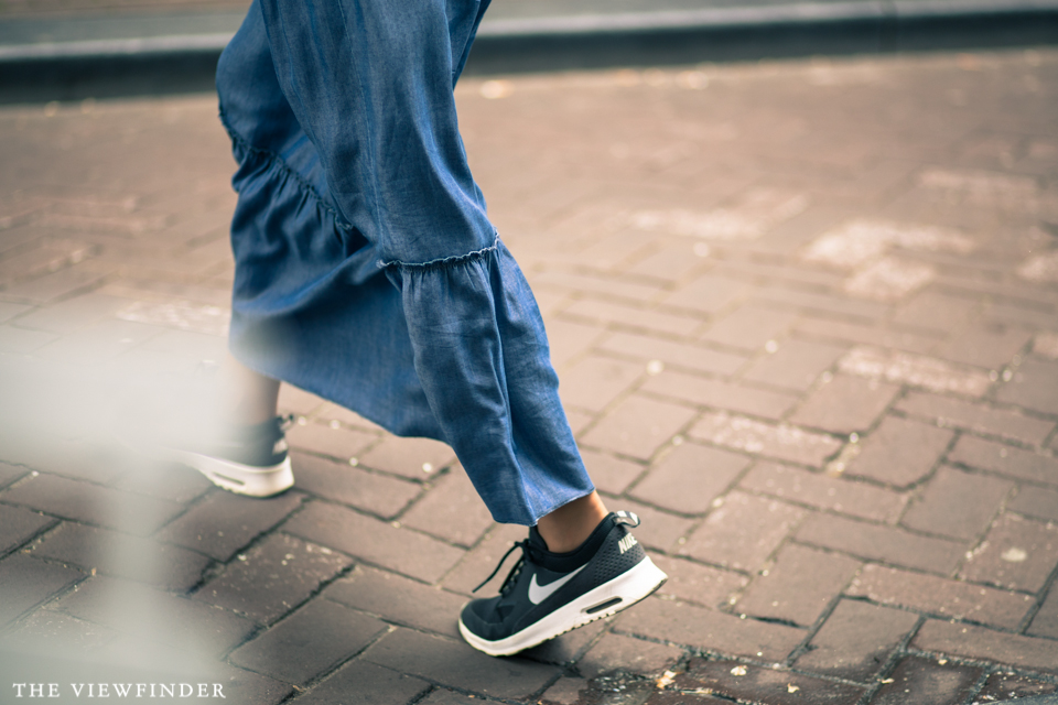 denim skirt sneakers amsterdam THE VIEWFINDER