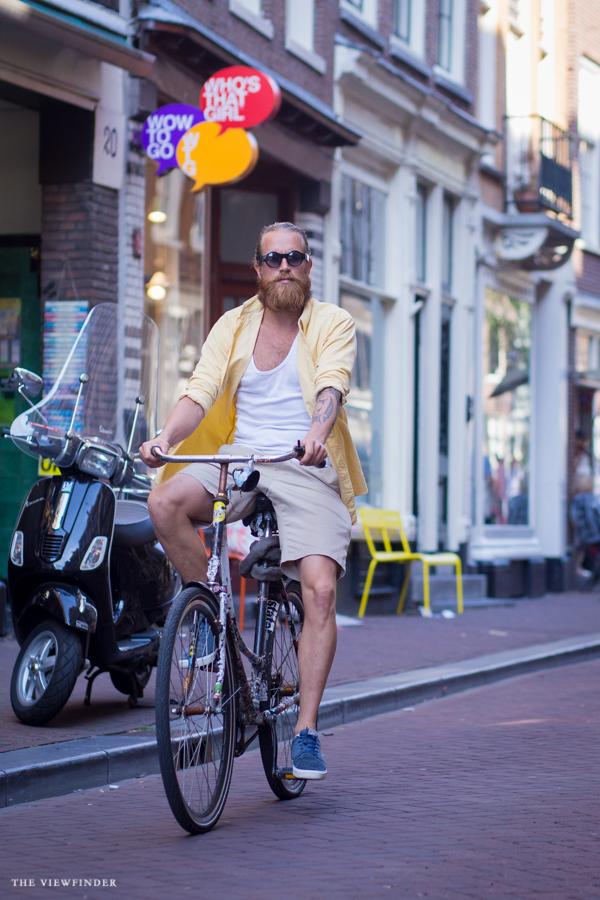 beard biker amsterdam street style   ©THE VIEWFINDER