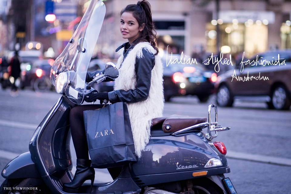 italian styled fashionista street style amsterdam vespa | ©THE VIEWFINDER