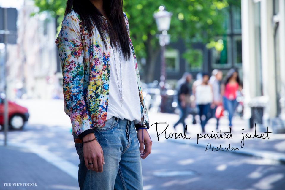 floral painted jacket street style womenwear fashion amsterdam | ©THE VIEWFINDER-0873 title