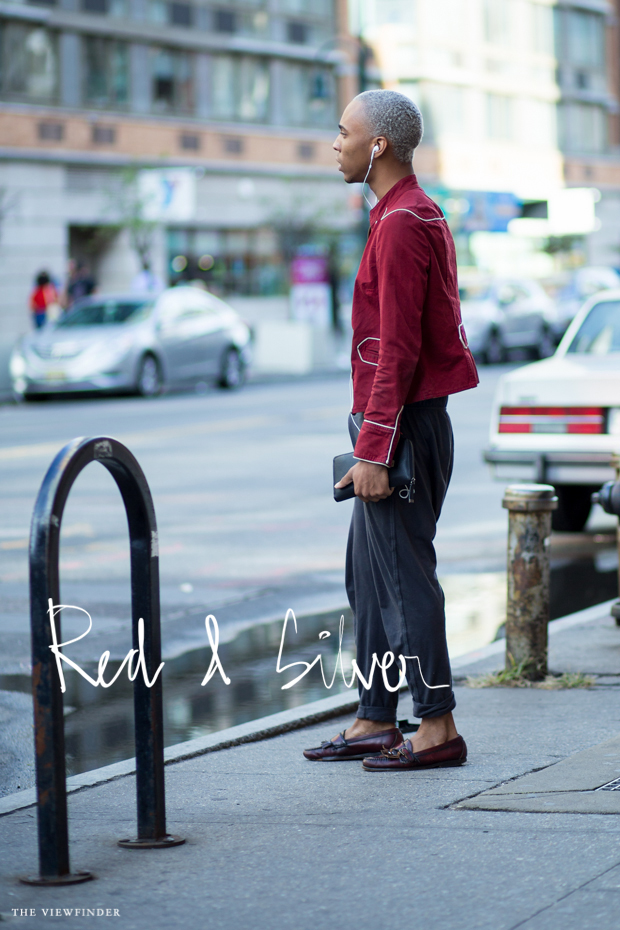 red silver look new york street style THE VIEWFINDER