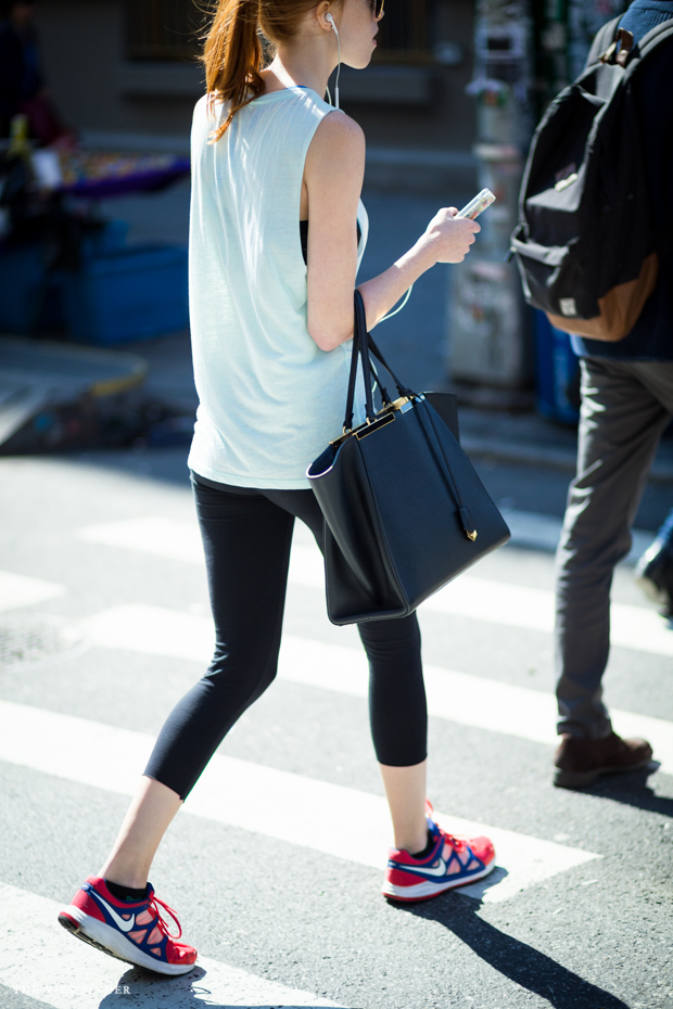 sporty chic look new york street style THE VIEWFINDER