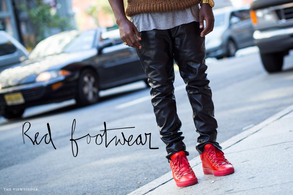 red footwear THE VIEWFINDER